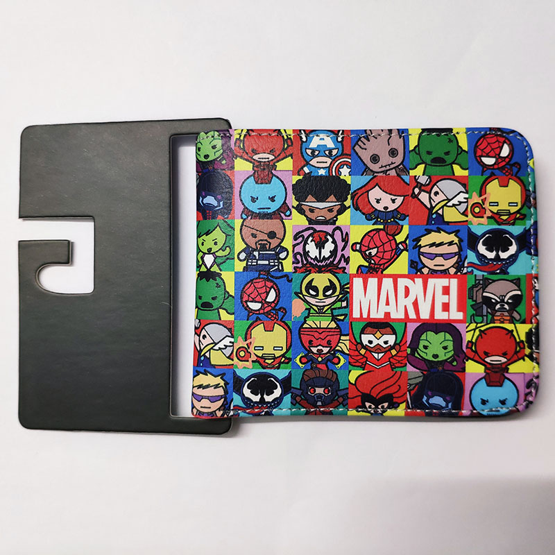 Hot Anime Purse Marvel Comics Hero Civil War Iron Man Wallet Cartoon Avenger Captain America Spiderman Student Short Wallets