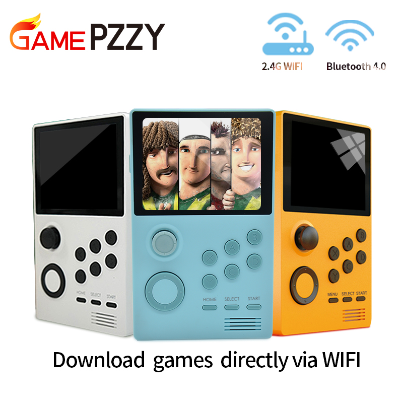 GAME PZZY A19 Pandora's Box Android supretro handheld game console IPS screen built-in 3000+games 30 3D games WiFi downlo(China)
