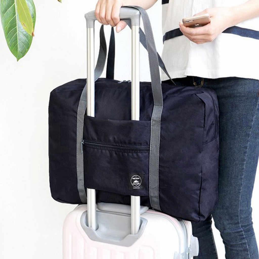 Kapasitas Besar Fashion Tas Travel untuk Pria Wanita Tas Akhir Pekan Kapasitas Besar Tas Perjalanan Membawa Tas Semalam #50