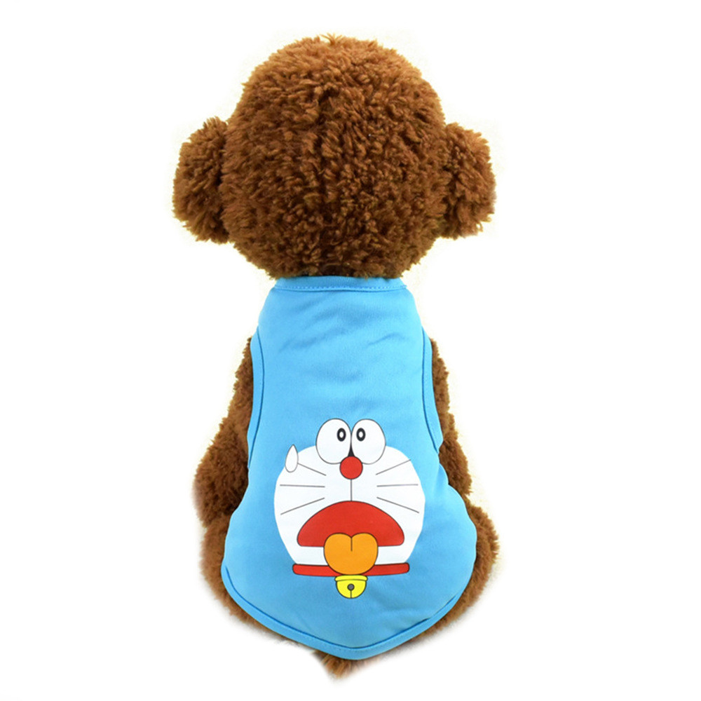 Pet Cat Clothes for Cats Summer Vest T Shirt Dog Cat Clothes Costume for Small Dogs Cartoon Vest for Puppy 35 (11)
