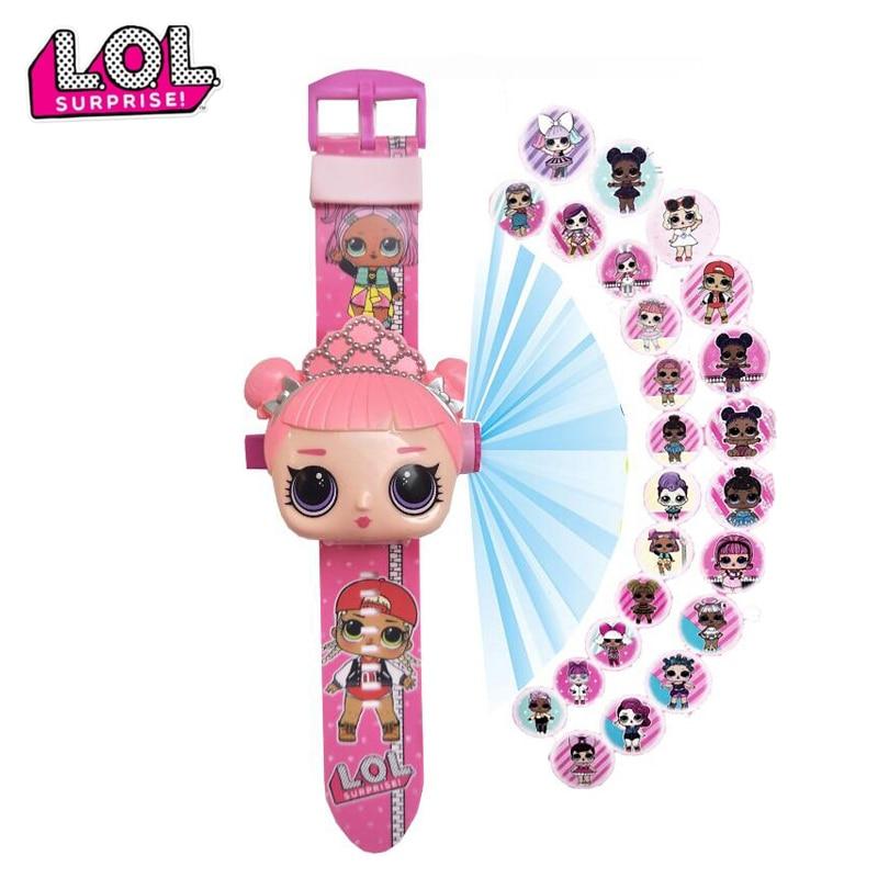 Belles poupées surprise 3D pour enfants, montres éducatives à personnages de dessin animé, pour garçons et filles, horloge jouets cadeaux