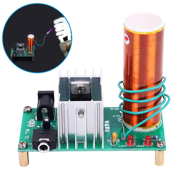 Mini Tesla Coil DIY Kit DC 15-24V 15W Tesla Music Coil Plasma Speaker Electronic Kit Arc Plasma Scientific Toy 500w high power tesla arc generator ac 220 v music plasma speaker electronic component speaker diy mini tesla personalized gift