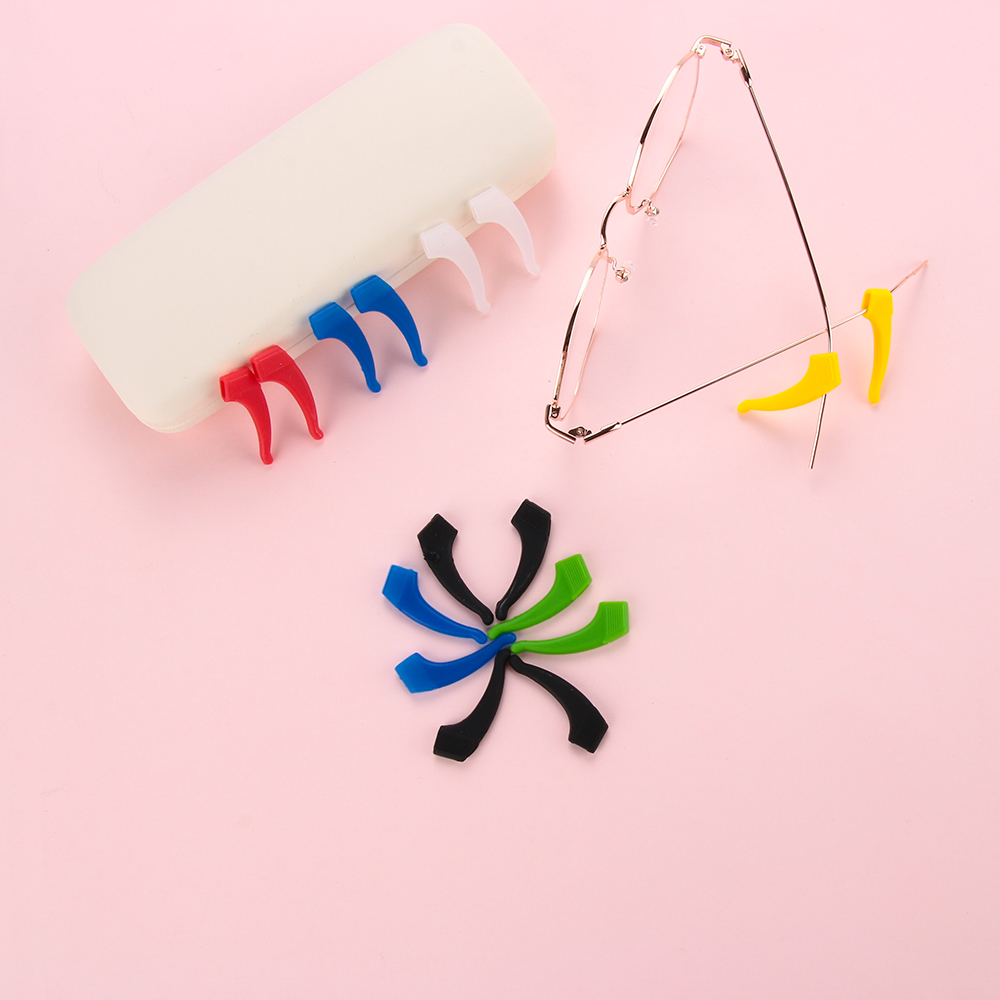 1Pair New Silicone Glasses Ear Hooks Glasses Holder Soft Anti Slip Fixed Leg Grip Temple Tip Outdoor Sports Eyewear Accessories