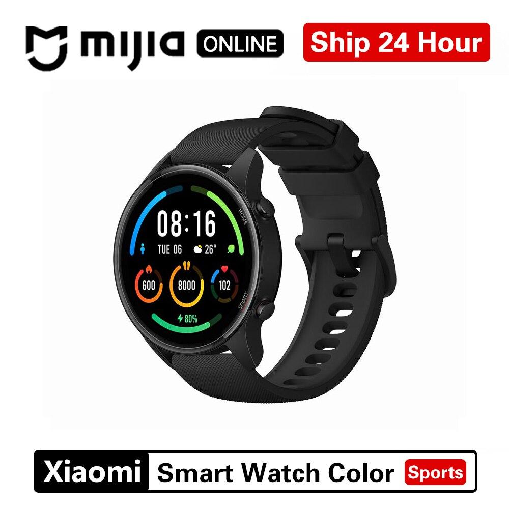 Новые цветные часы Xiaomi, модная спортивная версия, GPS, NFC, браслет, наручные часы, спортивные, Bluetooth, фитнес, пульсометр, трекер-0