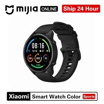 Новые цветные часы Xiaomi, модная спортивная версия, GPS, NFC, браслет, наручные часы, спортивные, Bluetooth, фитнес, пульсометр, трекер