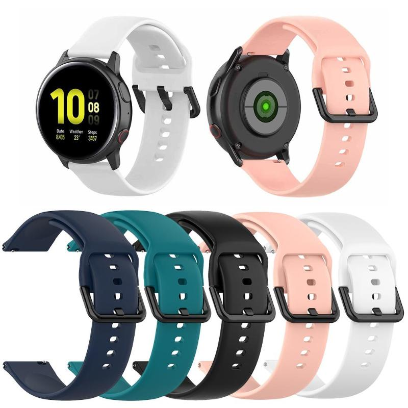 Soft Silicone Replacement Sport Band For Samsung Galaxy Watch Active 2 40mm 44mm L Wrist Bracelet Strap Accessories Dropshipping