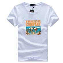 SWENEARO new 2021 summer little boy print T-shirt men's casual O-neck short-sleeved brand T-shirt men's breathable T-shirt men