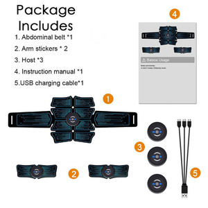 Image 5 - Стимулятор мышц брюшной полости EMS Abs Электростимуляция домашние тренировочные кроссовки тонера для мышц Упражнение Фитнес Оборудование зарядка через USB