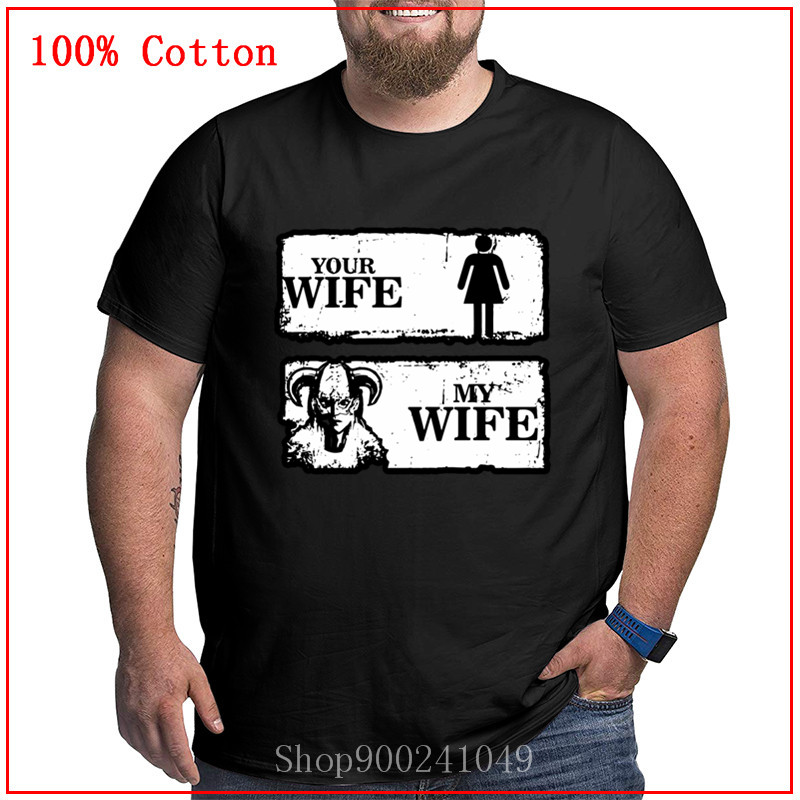 Your <font><b>wife</b></font> and my <font><b>wife</b></font> t <font><b>shirts</b></font> for men big size crew neck Summer Male Tops Personalized Short Sleeves cozy and Breathable casual image