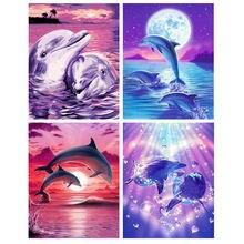 Картина по номерам в виде дельфина 60x75 см