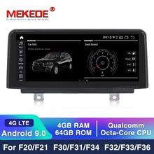 "10.25 ""px3 Android 9.0 araba multimedya oynatıcı GPS navigasyon için BMW 3 serisi F30 F31 F34 2010 2013 USB Stereo iDrive 4 çekirdekli"