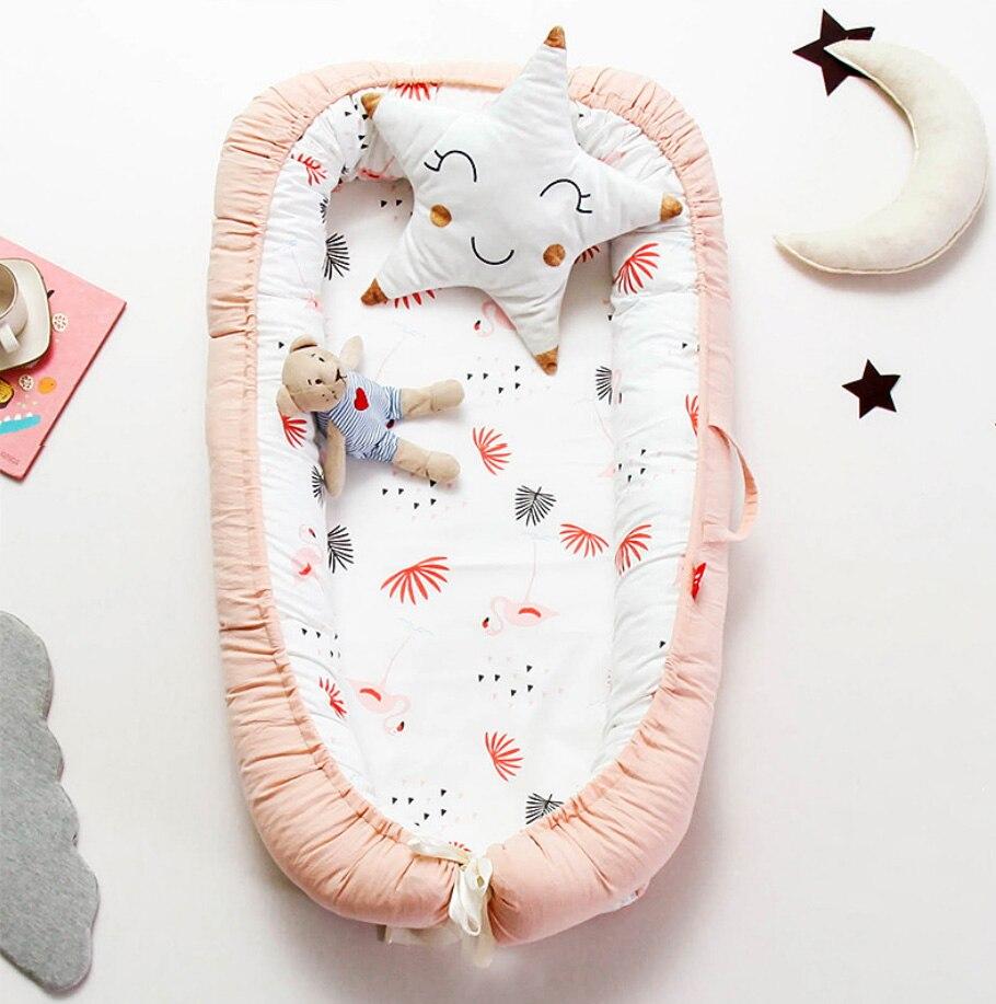 Portable Bionic Bed Toddler Cotton Cradle Baby Bassinet Bumper Foldable Sleeper Babynest For Newborn Sleep Pod 0-2Y
