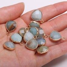2 шт ожерелье кулон в форме капли из амазонита для изготовления