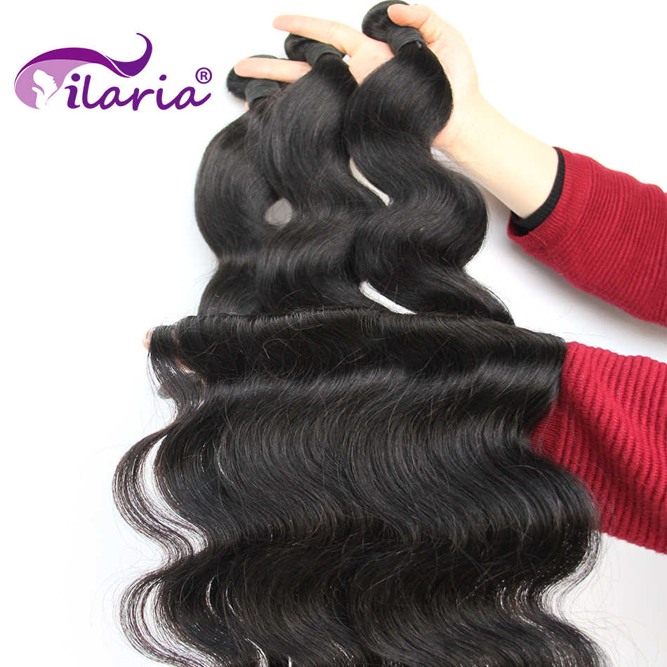 Ilaria Body Wave Brazilian Hair Weave Bundels 100% Human Hair Bundels 3 4 Pcs 30 32 34 36 38 40 inches Remy Hair Extensions
