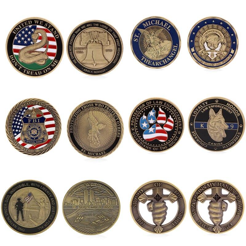 Honrando lembrando 11 set 2001 unidos estamos/eua valores de núcleo comemorativo desafio moeda coleção lembrança token presentes