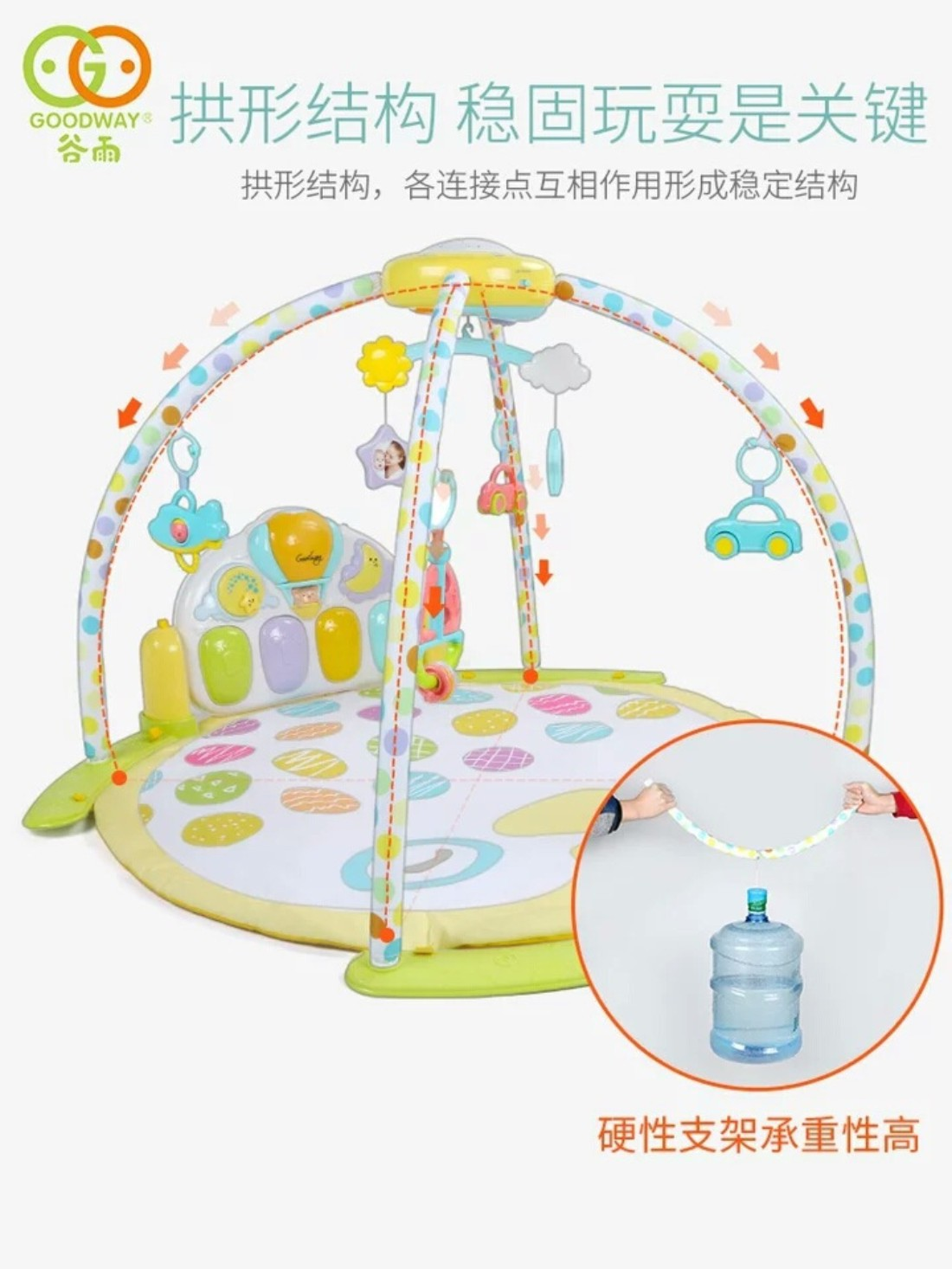 GOODWAY Infant Pedal Piano Star Fitness Rack 3-6 Month Baby Newborn Toys For Children And Infants Educational Fitness