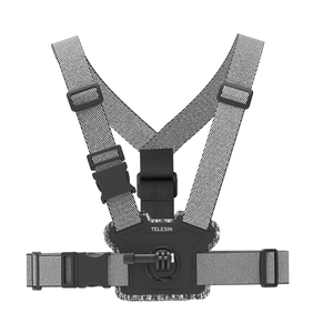 Image 5 - TELESIN حزام صدر للرأس ، حامل مزدوج ، مقاوم للانزلاق ، مرن ، تعديل قوي لـ GoPro 9 8 Osmo ، ملحقات Insta360