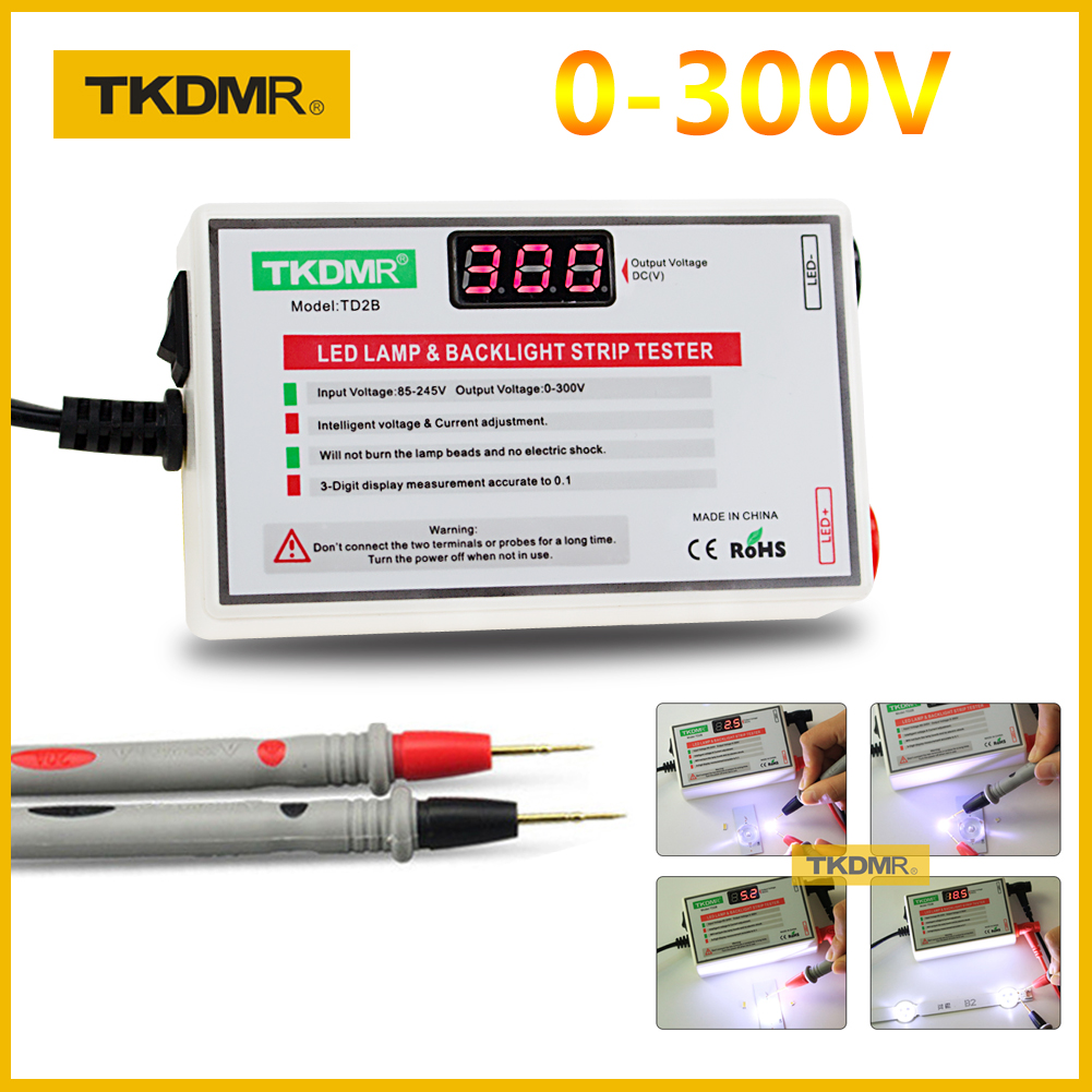 2020 TKDMR NEW LED Tester 0-300V Output LED TV Backlight Tester Multipurpose LED Strips Beads Test Tool Measurement Instruments