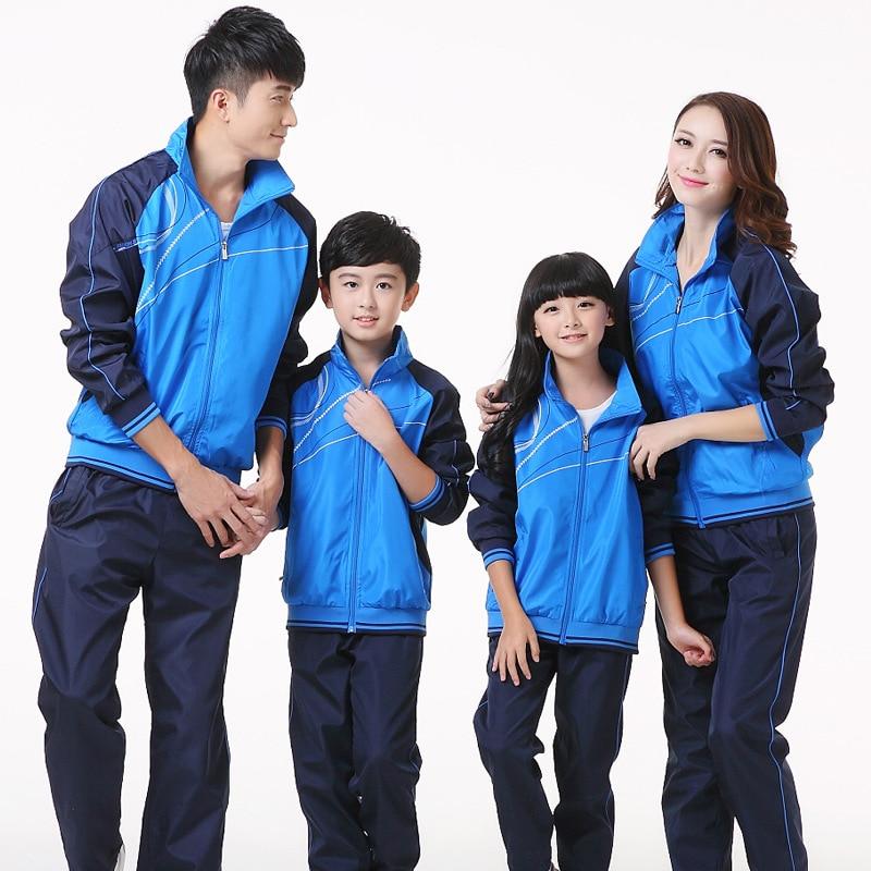 2018 New Style Men And Women Clothes Kindergarten Autumn Couples Sports Set Teenager Business Attire School Uniform