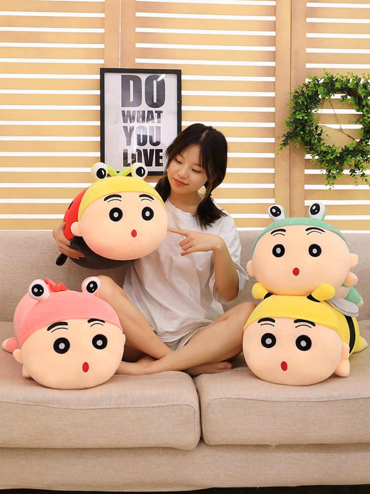 35-55cm uyku Crayon shin-chan dolması peluş oyuncak bebek japon film çizgi film karakteri uyku yastığı yastıkları uğur böceği arılar