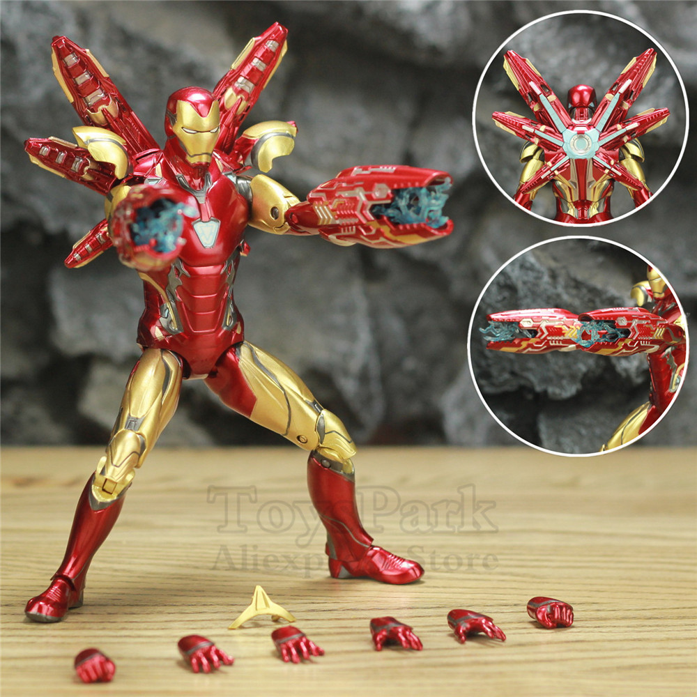 "IN STOCK! Marvel Avengers 4 Endgame Iron Man MK85 7"" Action Figure Ironman Mark 85 Nano Weapons Tony Stark Legends ZD Toys"