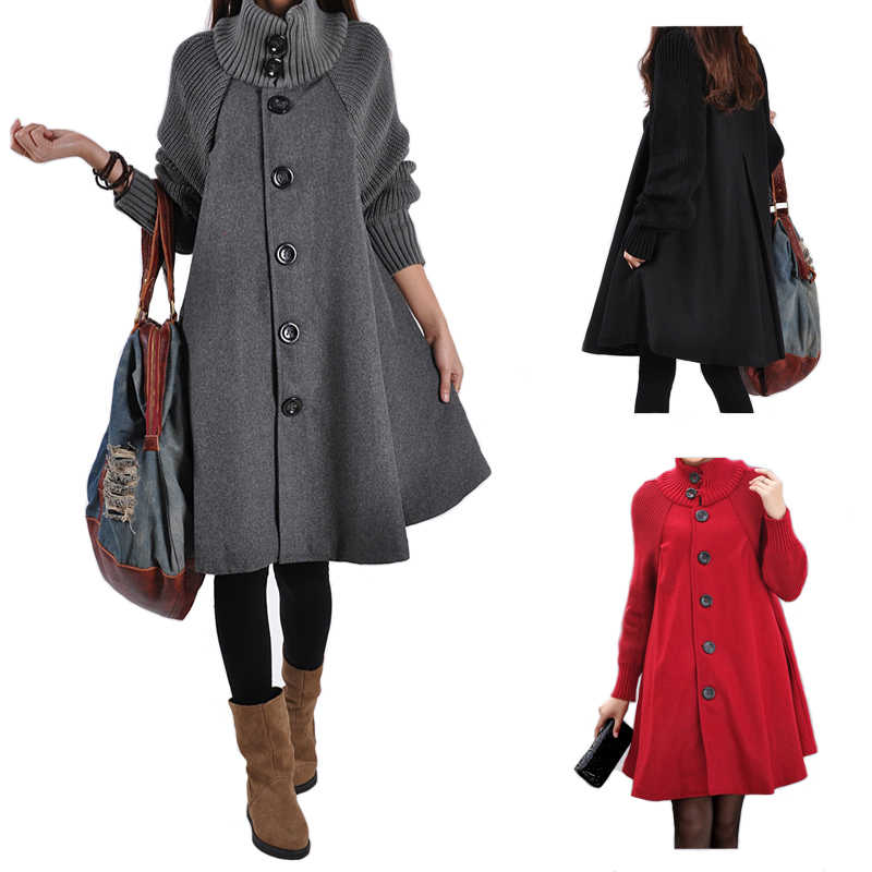Maternity Clothes New Autumn Winter Fashion Loose Thicken Pure Color Cloak Single-breasted Coats Clothes for Pregnant Women Coat