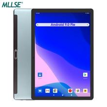 MLLSE czarny 32GB eMMC przechowywanie Android 9 tablet do gier 10 cali 5MP aparat 1280x800 HD ekran 2.5D szkło 3G połączenie telefoniczne Wifi GPS