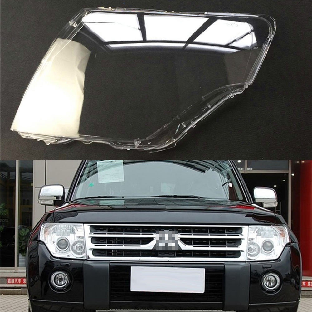 Car Headlamp Lens For Mitsubishi Pajero V97 V87 V93 2007 ~ 2018  Car  Replacement   Auto Shell Cover