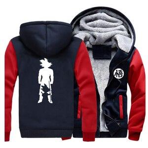 Image 1 - 2019 Thick hoodies Print cartoon Goku dragon ball Brand Coat Harajuku Streetwear Fashion hoodie sweatshirts Fleece Warm Hoody