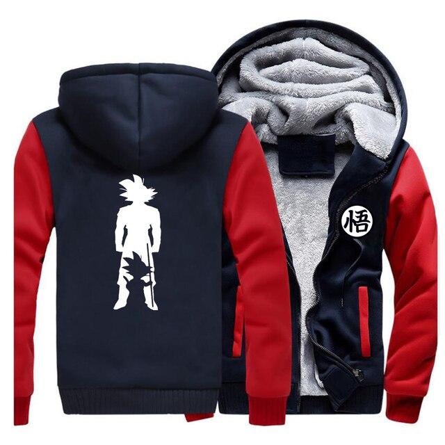2019 Thick hoodies Print cartoon Goku dragon ball Brand Coat Harajuku Streetwear Fashion hoodie sweatshirts Fleece Warm Hoody