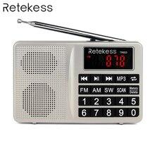 Retekess TR603 AM FM Radio Shortwave Transistor Digital Tuning Receiver MP3 Player Support TF Card Rechargeable Li-ion Battery цена и фото