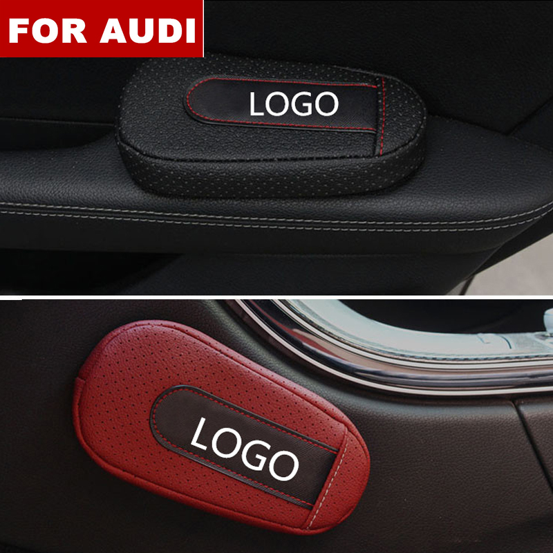 Car Accessories Soft and Comfortable Foot Support Cushion Car Door Arm Pad Car Styling For Audi logo Sline Q3 Q7 TT A8 A6 c5 c6