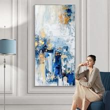 Peinture à l'huile sur toile peinte à la main, tableau d'art mural abstrait pour salon chambre à coucher, décor de maison, peinture à l'huile en teckel épais, 100%