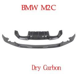 Pełna błyszczyk przedni z włókna węglowego tylny dyfuzor dla BMW M2C M2 konkurencji suche węgla montaż gwarancja