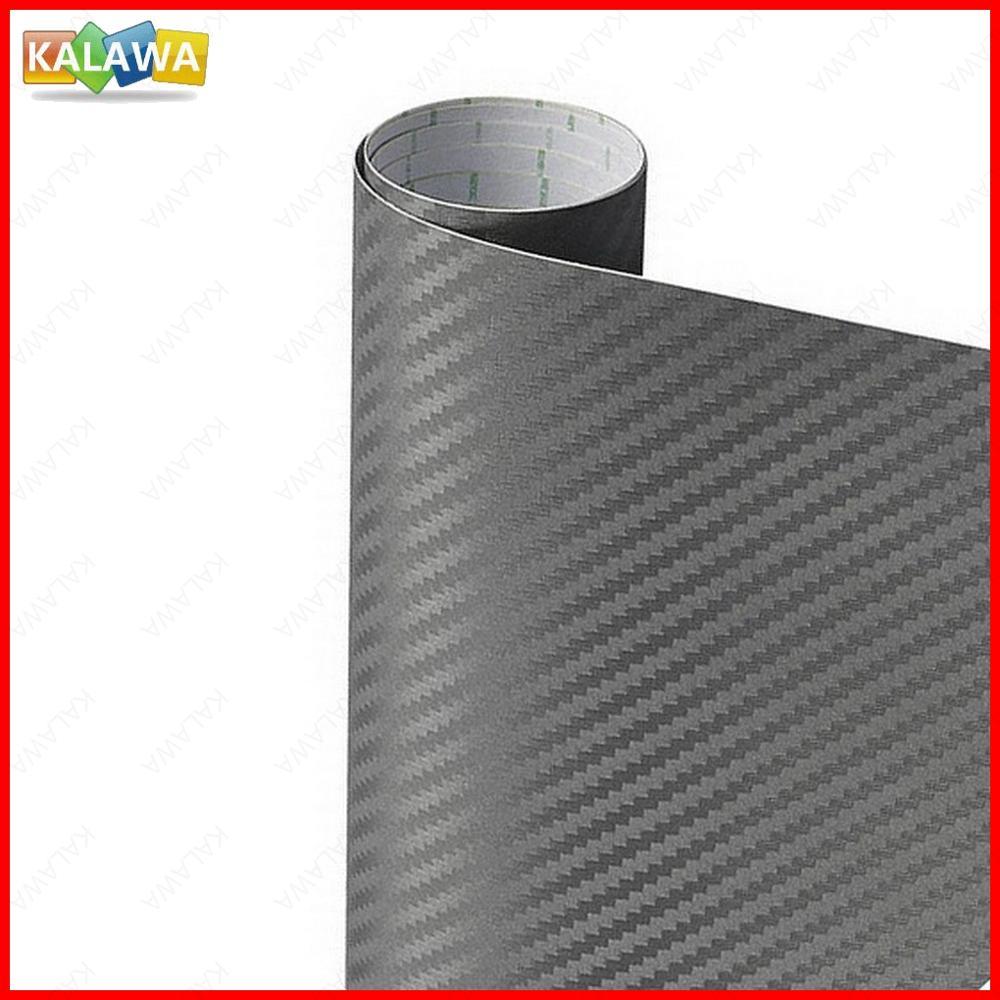 3d fibra de carbono vinil cinza tamanho múltiplo carro envoltório folha rolo filme adesivo da motocicleta estilo automóvel decalques capa cinza