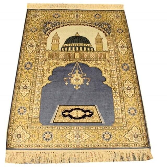 Tapis descalier persan fait main en soie naturelle