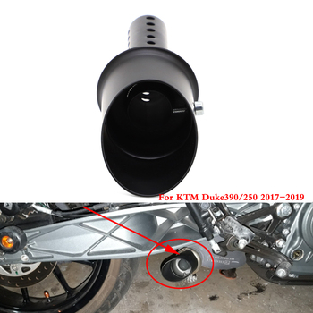 Motorcycle Exhaust Muffler DB-killer Silencer Pipe Tube Noise Reducer For KTM DUKE 250 390 2017 2018 2019 Black 1 pcs motorcycle exhaust db killer muffler adjustable exhaust silencer for kawasaki z zr zx 125 250 750 750r 750s 800 1000 sx