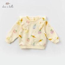 DBZ13335 T shirt froncé printemps filles