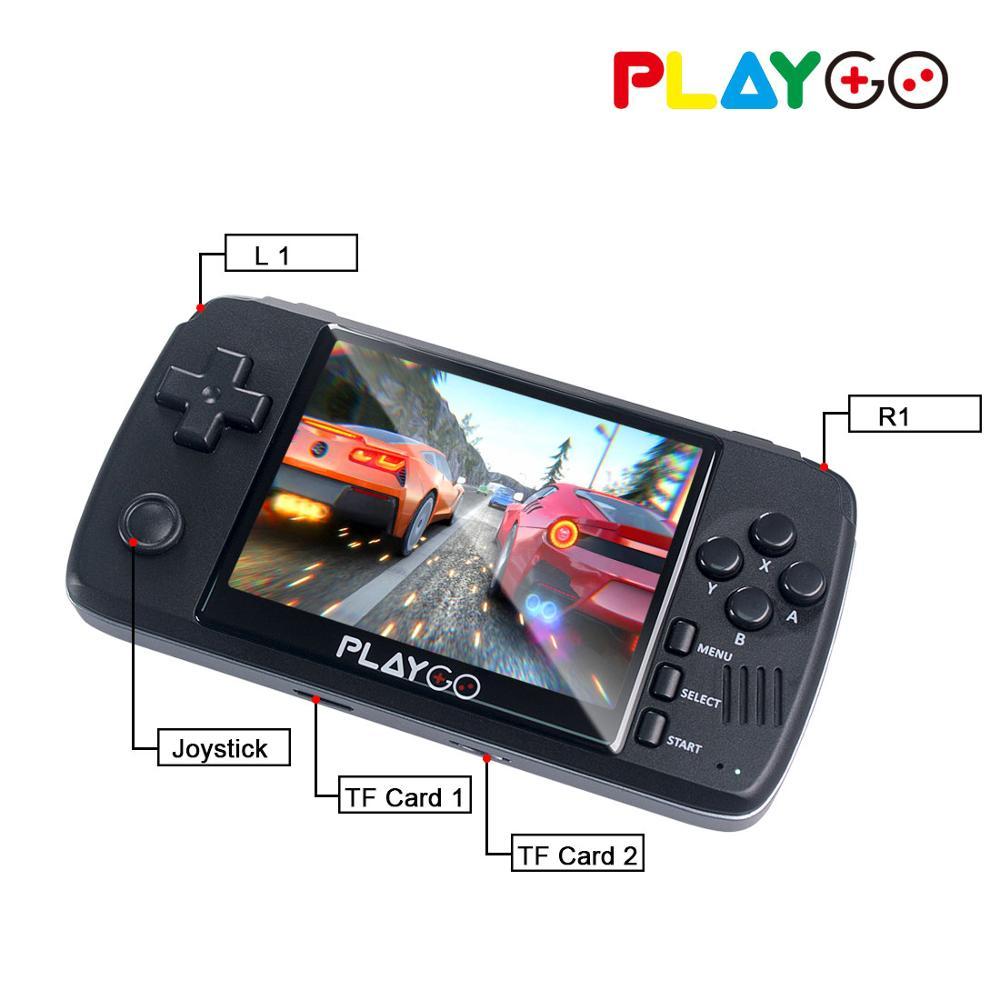 Nueva consola emulador PLAYGO pantalla IPS de 3,5 pulgadas reproductor de juegos portátil integrado en 1000 juegos en tarjeta TF de 16GB para GBA PS1 NES - 3