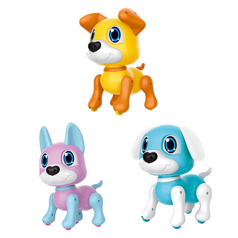 Cute Robot Dog Robotic Puppy Smart Gesture Sensor Interactive Toy Cartoon Model Birthday Gifts for Kids