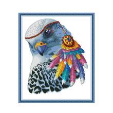 Joy Sunday DMC Cross Stitch Kits Embroidery Needlework Sets Rainbow Eagle Patterns Printed Canvas 14ct 11ct Aida DIY