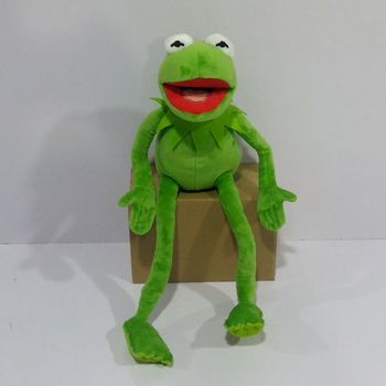 Free shipping 45cm=17.7inch Cartoon The Muppets KERMIT FROG Stuffed animals Plush Boy Toys for Children Birthday Gift цена 2017