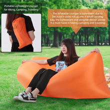 Быстро надувной ленивый мешок надувной диван банан нейлоновая сумка для отдыха Кемпинг ленивый диван-кровать коврик Портативный пляжный коврик для кровати кресло для отдыха шезлонг