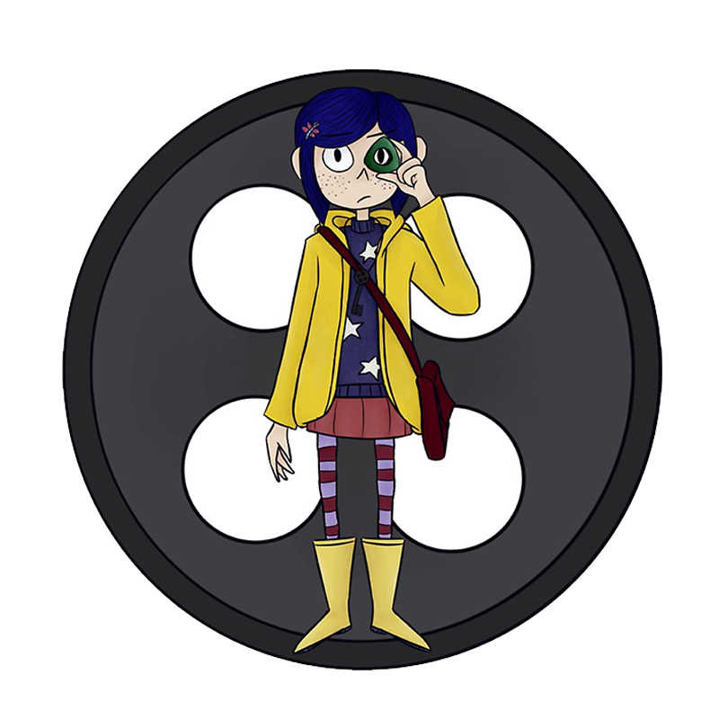 Book And Movie For Coraline And The Secret Door Pin Badge Brooches Aliexpress