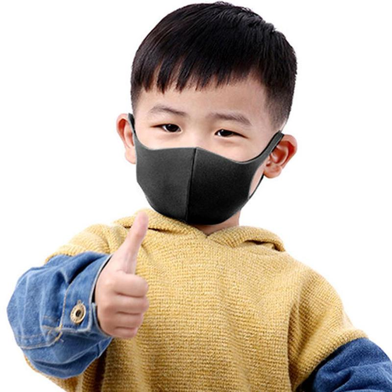 Children Anti Pollution Breathable Face Mask Black Earloop Reusable Dustproof Mouth Muffle Kids Protective Equipment