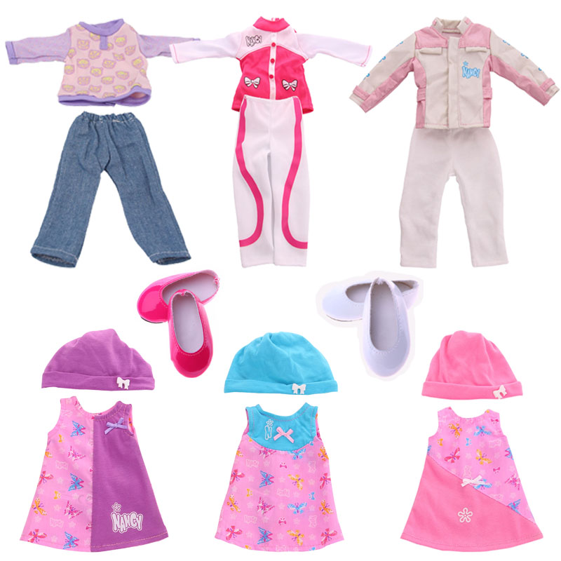 15 Styles Wellie Wishers Doll Set Shoes Clothes Accessories For 14.5 Inches Wellie Wishers Doll Generation Of Girl's Toy Gift