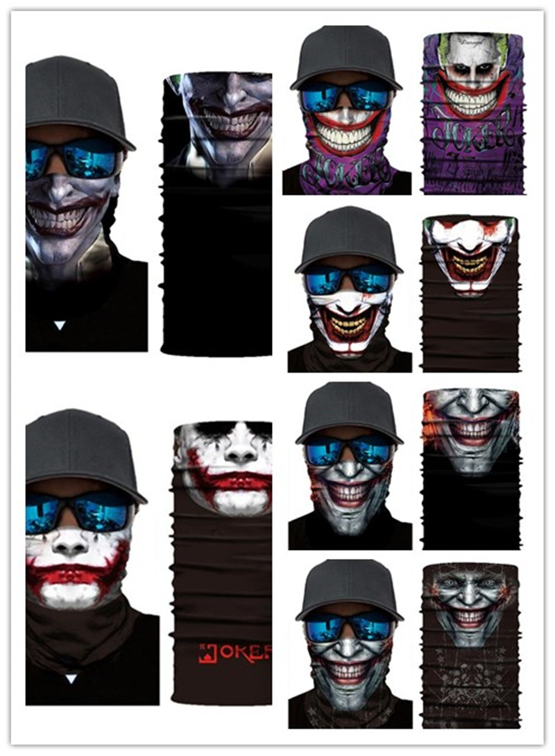 The Joker Motorcycle Cycling Neck Scarf Half Face Masks Bandana Headband Cosplay Balaclava