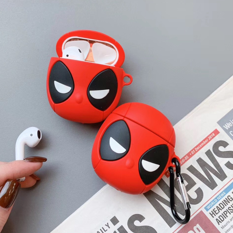 Marvel Hero For Apple Airpods 1/2 Case Protective Cover Cute Bluetooth Earphone Case Fashion Soft Silicone Cases Headset Capa