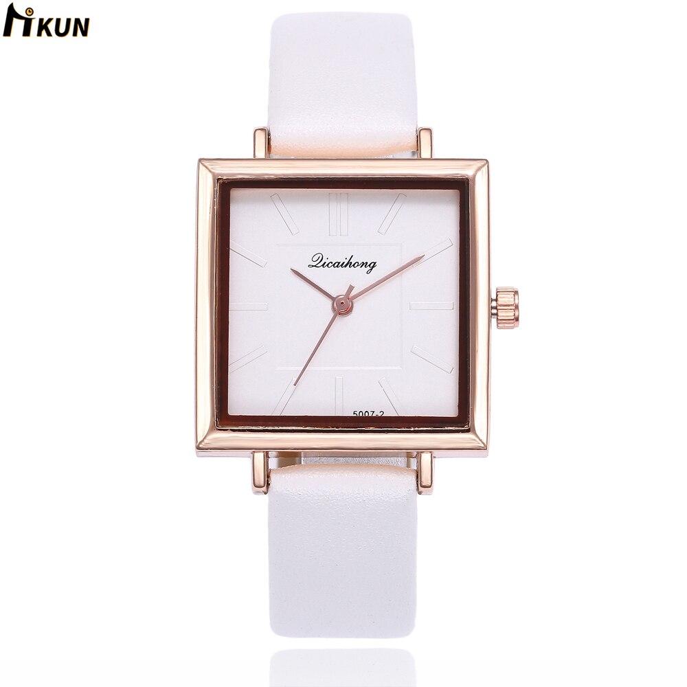 2019 hot Fashion Rhinestone Watch Women Luxury Brand Leather Watches Ladies Simple Black Quartz Dress Relogios Reloj Mujer Clock
