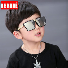 RBRARE Classic Square Sunglasses Girls Boys Colorful Mirror